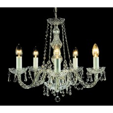 Impex Modra Crystal Strass Chandelier 5 Light