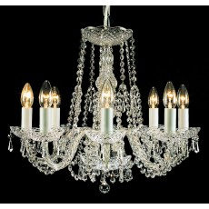 Impex Modra Crystal Strass Chandelier 8 Light