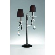 Impex Rhinestone Candelabra Gunmetal Table Lamp