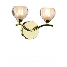 Dar  Cynthia Double Polished Brass Wall Bracket Light