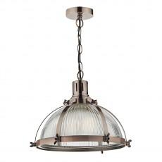 Dar Lighting Debut 1 Light Pendant Brushed Antique Copper