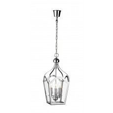 Dar  Duke 3 Light Polished Chrome Lantern  Light