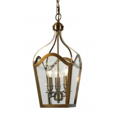 Dar  Duke 3 Light Antique Brass Lantern