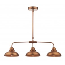 Dar  Dynamo 3 Light Antique Copper Bar Pendant