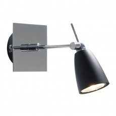 Dar  Empire Single Polished Chrome Wall Bracket  Light