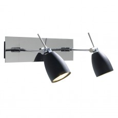 Dar  Empire Double Polished Chrome Wall Bracket Light