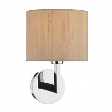 Dar Lighting Ferrara Wall Bracket Round With Square Arm Polished Chrome Base Only