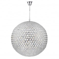 Dar  Fiesta 12 Light Polished Chrome 90CM Pendant Light