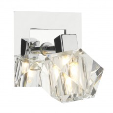 Dar  Geo Single Polished Chrome Wall Bracket Light