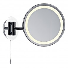Dar  Gibson Magnifying Round Wall Mirror Excl Lamp