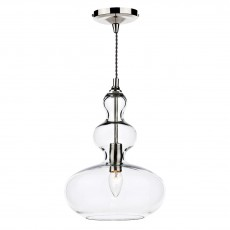 Dar  Goa 1 Light Clear Pendant