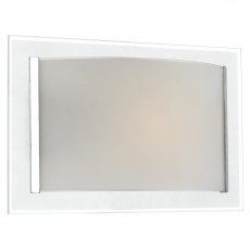 Dar  Inverse 1 Light Polished Chrome Trim Glass Wall Bracket Light