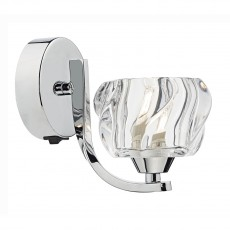 Dar Lighting Ivy Single Wall Bracket Polished Chrome