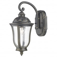 Dar  Johnson Wall Bracket Lantern Black Gold