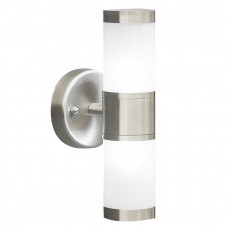 Dar  Kamus Double Wall Bracket Frosted Glass Stainless Steel complete with Lamps