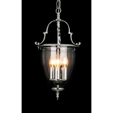 Impex Norfolk Bell Glass 3 Light Lantern Ch