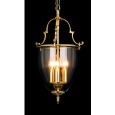 Impex Norfolk Bell Glass 3 Light Lantern Pb