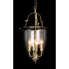 Impex Norfolk Bell Glass 4 Light Lantern Ab