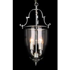 Impex Norfolk Bell Glass 4 Light Lantern Chrome