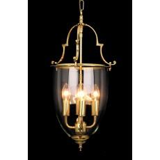 Impex Norfolk Bell Glass 4 Light Lantern Pb
