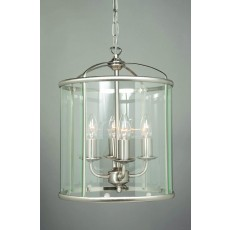 Impex Orly Round Pendant Lantern Sat Nickel 34