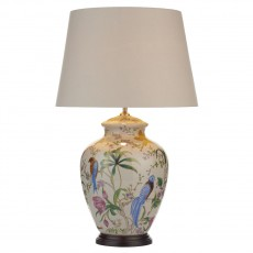 Dar  Mimosa Table Lamp White/ Floral/ Bird Base Only