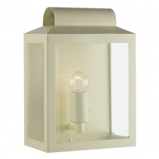 Dar  Notary Rectangle Matt Cream Wall Bracket  IP44