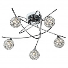 Dar  Nucleus 5 Light Polished Chrome Flush Light