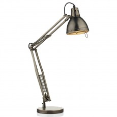 Dar  Osaka Antique Chrome Table Lamp Complete Light