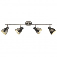 Dar  Osaka 4 Light Antique Chrome Bar Light