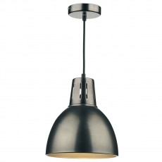 Dar  Osaka Antique Chrome Non Elec Pendant Large Light