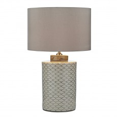 Dar Lighting Paxton Table Lamp Cream Brown Base Only