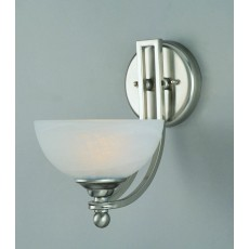 Impex Texas Wall Light Sat.Nick White Alabaster