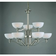 Impex Texas Pendant Light Sat Nick White Alabaster 9 Light