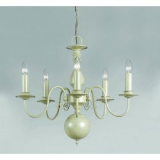 Impex Bologna Flemish Pendant Light Cream