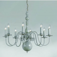 Impex Bologna Flemish Pendant Light Grey