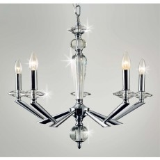 Impex Belda 5 Light Pendant Light Chrome