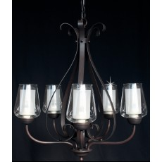 Impex Devan 6 Light Pendant Light 40W Dark Bronze