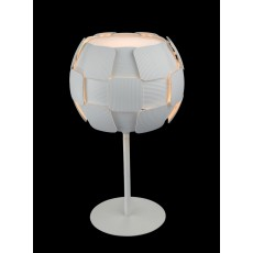 Impex Brigitte White Squares Table Lamp
