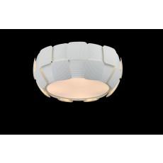 Impex Brigitte White Squ. 4 Light Flush Pendant Light