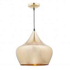 Dar Lighting Pogo 1 Light Gold Pendant