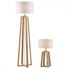 Dar  Pyramid Table Lamp And Floor Lamp Twincw Shade