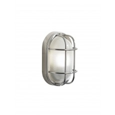 Dar  Salcombe Small Oval Steel Wall Light IP44