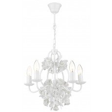 Dar  Saskia 5 Light Pendant Gloss White