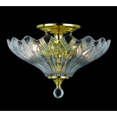 Impex Dallas Semiflush Pendant Light H/W Pol.Brass