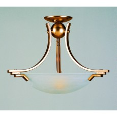 Impex Amora Sf Pendant Light Ant.Brass Alab.Glass