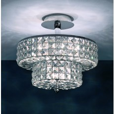 Impex Dijon Chrome 3+2 Light Semiflush Pendant Light