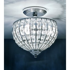 Impex Metz Chrome 3 Light Semiflush Pendant Light