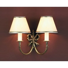 Impex Richmond 2 Light Wall Light Polished Brass 12