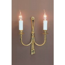 Impex Richmond 2 Light Wall Light Polished Brass 12A